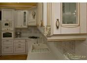 Фасад Рим белый с золотой патиной